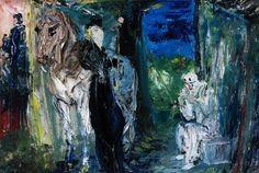 "Jack B Yeats, ""The Grand Conversation Was Under the Rose"" Kensington School, Moving To Ireland, Jack B, Short Stories For Kids, Irish Art, Urban Life, Large Canvas, Conversation, Samuel Beckett"