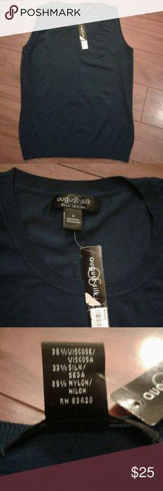 Dark blue sweater vest August silk dark blue sweater vest august silk Sweaters