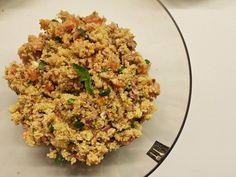 Salada de quinoa com mexilhão e atum