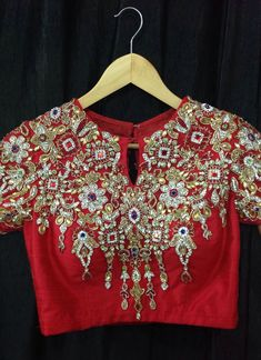 Gorgeous red sari Blouse