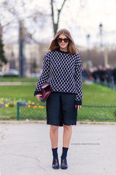 Monica Ainley - Paris Fashion Week Fall 2014 Street Style