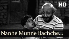Nanne Munne Bachche - David - Boot Polish - Asha - Rafi - Bollywood Kids...