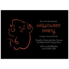 Free Halloween Party Invitation Printables , Angry Phantom, Free Halloween Invitation Template