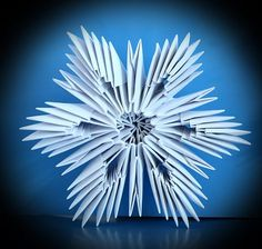 3D snowflake craft | 3D Origami Snowflake Pattern 300x285 3D Origami Snowflake Pattern