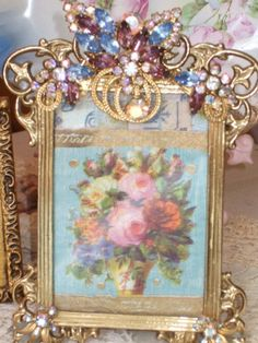 Exquisite jeweled picture frame