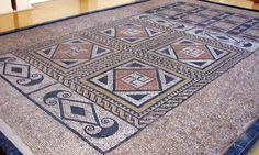 Roman Mosaic. Swastika Detail. Tarragona (Colonia Iulia Urbs Triumphalis Tarraco), Spain.