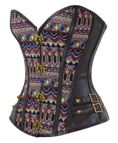Now available on our store Steampunk Goth Da... Check it out here! http://vylets.com/products/steampunk-goth-dark-brown-steel-boned-jacquard-overbust-corset-1?utm_campaign=social_autopilot&utm_source=pin&utm_medium=pin
