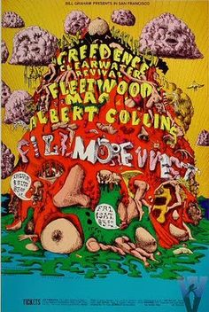 CCR psychedelic poster