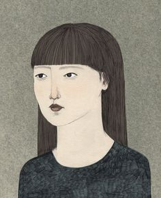 Portrait of Naoko from Haruki Murukami's Norwegian Wood. (Photo Courtesy of Lizzy Stewart.)