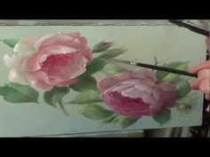 ▶ How to paint a rose - YouTube