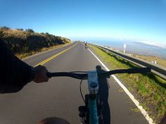 Bike ride down on Haleakala Bike Tours, Maui