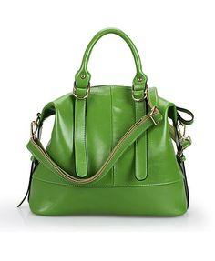 Fashionable Real Leather Shoulder Bag  - 96.00