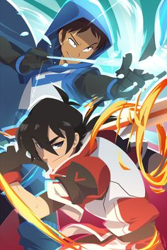 The Arrow and the Sword. I think this image matches each character's nature -- Lance's precision and Keith's battle fury.