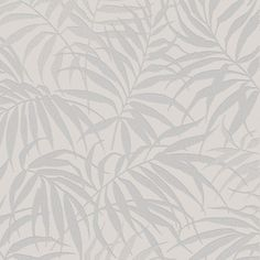 Sample Tropic Wallpaper in Beige and Silver from the Pure Collection by Graham & Brown