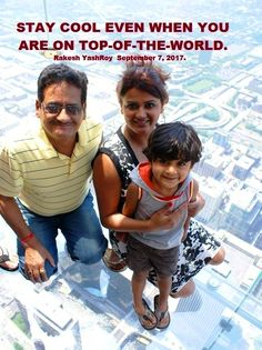 Stay cool even when you are on top-of-the-world: Dr Rakesh YashRoy