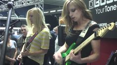The Iron Maidens Boss GT-100  Demo with cute girls that can play