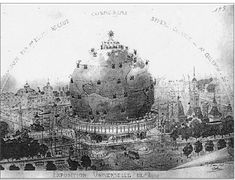 Élisée Reclus (French, 1830-1905) and Louis Bonnier (French, 1856-1946) Shrine to the Earth for the Exposition Universelle in Paris, Several proposed designs, circa 1895