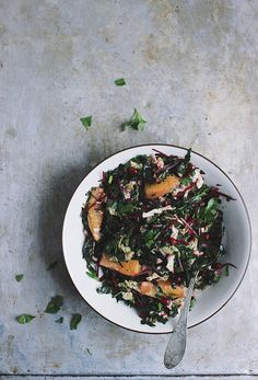 Sunday Supper :: 01.04.15 :: Winter Chopped Kale Salad with Oranges