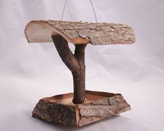 Bird feeder Fairy cottage Gnome home made from by BurningBus