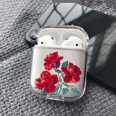 Floral AirPods Case Custom Personalized Cover For Apple Air Pods Apple Headphones Case red roses iPhone case clear AirPods Case Personalized headphone apple – Headphone Fone Apple, Airpods Apple, Apple Case, Cute Ipod Cases, Accessoires Iphone, Earphone Case, Air Pods, Airpod Case, Iphone Phone Cases