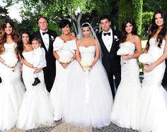 A Look Back At Kim Kardashian & Kris Humphries' Wedding - The Whole Kardashian Klan from #InStyle