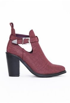 1d549804973 Missguided - Rose Buckle Ankle Boots Oxblood