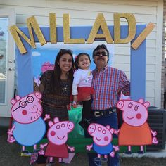 Pepp pig party picture frame
