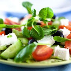 Salade de feta aux olives
