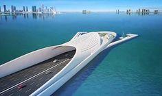 Ponte by Santiago Calatrava - Doha Bridges Architecture, Futuristic Architecture, Contemporary Architecture, Amazing Architecture, Architecture Design, Santiago Calatrava, Doha, Bridge Design, Modern Buildings