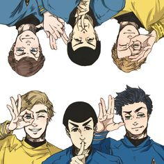 Leonard H. McCoy & James T. Kirk & Spock   McSpirk    Star Trek AOS, TOS