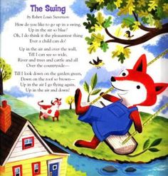 The Swing Poem by Robert Lewis Stevenson Traditional Tune Illustrated by Linda Bleck Published in A Children's Treasury of Poems