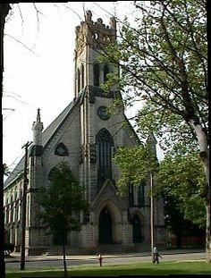 St. Patrick's Church on Bridge Street, Cleveland, Ohio, USA.