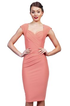 This dress is darling! the sweet heart neckline is delicate and feminine, the colour just adds to the femininity of the dress! Femininity, Spring Fashion, Diva, Floral Prints, Delicate, Blush, Peach, Neckline, Bodycon Dress