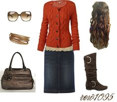 """""""Gold and orange"""" by rew1095 ❤ liked on Polyvore"""