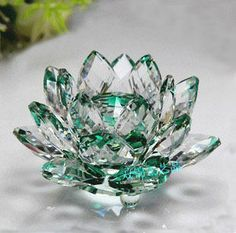 Swarovski Crystal Jade Green Lotus--have it in clear^ Swarovski Outlet, Swarovski Jewelry, Swarovski Crystal Figurines, Swarovski Crystals, Crystal Fashion, Glass Figurines, Crystal Collection, Stones And Crystals, Cheap Crystals