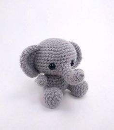 ******PLEASE NOTE: THIS PURCHASE IS ONLY FOR A DIGITAL CROCHET PATTERN, NOT THE FINISHED ANIMAL****** Create your own adorable little elephant in just a few hours! This super simple pattern includes one PDF file with detailed instructions on how to crochet and assemble all the