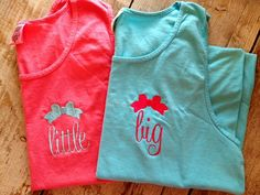 Monogrammed Comfort Colors Tank with Big/Little/G Big, Monogram Sorority big/little sis tshirt/tee