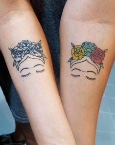 Search inspiration for a Minimal tattoo. Line Art Tattoos, Cover Up Tattoos, Mom Tattoos, Tatoos, Frida Tattoo, Frida Kahlo Tattoos, Small Finger Tattoos, Small Tattoos, Coffee Tattoos