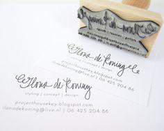 Tarjeta de visita personalizada con sello