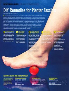There are a number of treatment options for Plantar Fasciitis ...