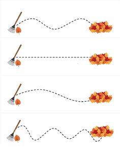 free printable leaf line tracing printables Body Preschool, Fall Preschool Activities, Preschool Education, Free Preschool, Preschool Printables, Preschool Lessons, Preschool Worksheets, Free Printables, Fall Crafts