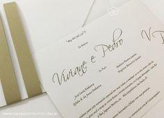 Convite de casamento dourado | Galeria de Convites