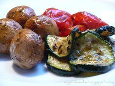 Essen aus Engelchens Küche: Antipasti - Marinierte, gegrillte Paprika, Zucchini und Pilze