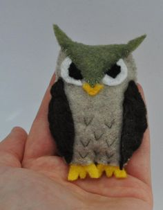 Tiny handmade owl stuffy  -Ashley Cailtin Crafts