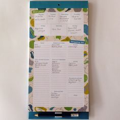 Menu and Shopping magnetic fridge list Best selling menu and shopping list is a handy notepad designed to help you plan out your family's meals and keeps tabs on the groceries you need. Organised Mum, Menu Planners, Budget Meals, Stationary, Budgeting, Organization, How To Plan, Shopping, Getting Organized