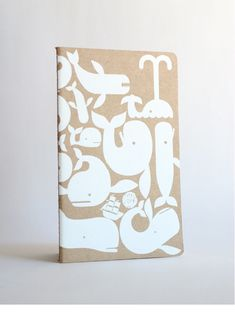 Geoff McFetridge, Notebook Cover, Whale of a design