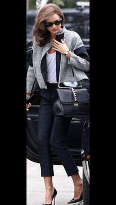 Channelling Glamour Miranda Kerr Looks Chic In Trouser Suit And Tumbling Hollywood Curls For Photo Shoot
