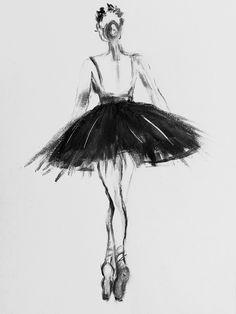 Ballerina, black white, pastel, charcoal Art Print by myartspace - X-Small Ballerina Drawing, Ballet Drawings, Ballerina Painting, Dancing Drawings, Black And White Art Drawing, Black White Art, Black And White Prints, Charcoal Sketch, Charcoal Art