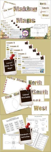 Making Maps Lesson Plans for Kinders, 1st