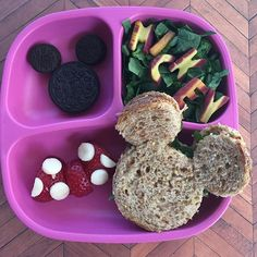 Fun (much less effort than it looks) lunch for my crew #lunch #replayrecycled #mickeymouse #vegan @replayrecycled